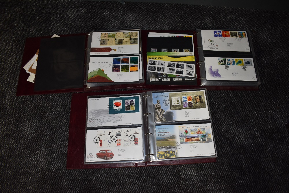 Lot 837 - Three albums of GB First Day Covers 2004-2011, mainly with special post marks
