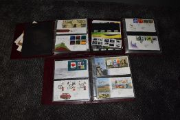 Three albums of GB First Day Covers 2004-2011, mainly with special post marks