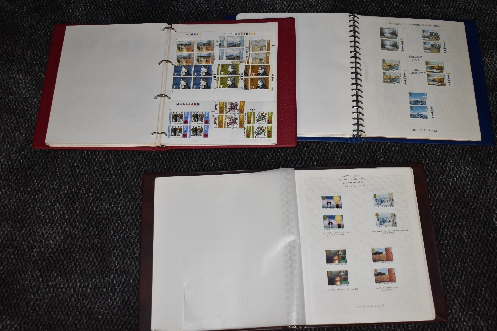 Lot 810 - Two albums of mint GB Stamps 1970s-80s Gutter Pairs and Traffic Lights along with an album of mint &