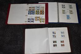 Two albums of mint GB Stamps 1970s-80s Gutter Pairs and Traffic Lights along with an album of mint &