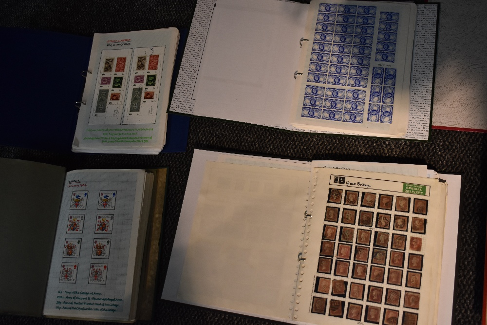 Lot 801 - A Large GB Stamp Collection 1840 to 2019, Mint & Used in 8 albums, early stamps mainly used