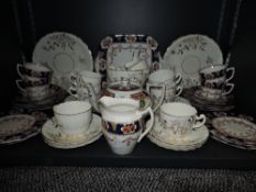 Two part tea services, including Royal Albion and white glaze victrion with white detail