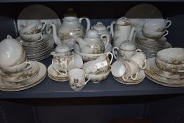 A vintage Chinese export eggshell part tea and coffee service, having extensive hand painted