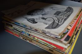 A selection of Robert crumb and Fritz the cat comic books.