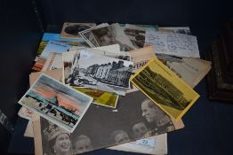 A selection of local interest postcards, also included are a copy of the sphere dated 1916 and a