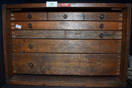 A vintage Enox tool chest.