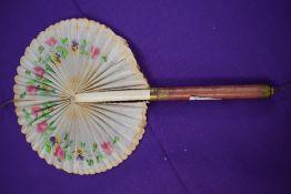 A mid 19th century fan 'The suprise bouquet'.