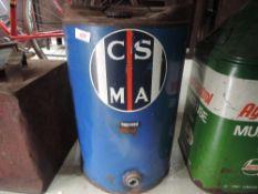 A civil service motoring association oil drum.