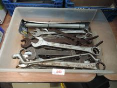 A selection of mechanics spanners metric and imperial