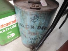 A Valor Royal Daylight oil drum with brass tap and filler cap, around 1930s.