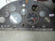 A Sedan Atkinson instrument panel with smiths dials.