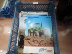 A selection of tractor and machinery brochures and programmes