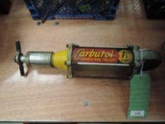 An unusual Carburol petrol one shot treatment injector.AF.