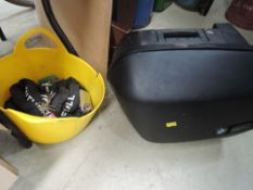 A BMW motorcycle case and similar lock