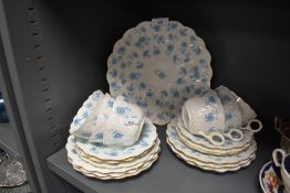 A part tea service by Chapman having transfer print and gilt decoration