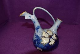 A double spouted vase or water jug by Turn EW Vienna Ernst Wahliss
