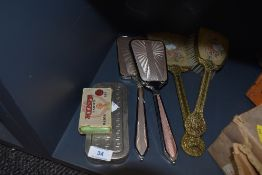A selection of shaving cleaning and grooming items including Rolls razor