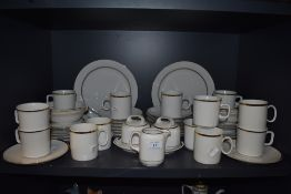 A part dinner service by Eschenbach with white and gilt glaze