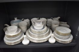 A selection of dinner and table wares including Royal Doulton Counterpoint and Jo Booth London