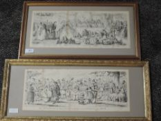 Two prints, Cruickshank, Victorian life, As It Ought to be, and Bloomers, 1852, framed and glazed