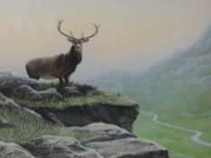 A watercolour, Jepson, monarch of the glen, signed and dated (19)91, 42 x 62cm, framed and glazed