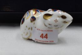 A Royal Crown Derby Collectors Guild Bank Vole paperweight, boxed with gold stopper