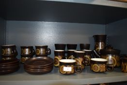 A part tea and coffee service by Denby in the Arabesque design 26 pieces approx