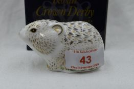 A Royal Crown Derby Collectors Guild Riverbank Vole paperweight, boxed with gold stopper