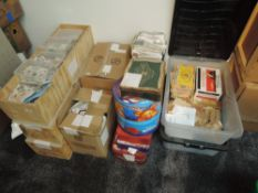 A large collection of used GB and World Stamps, on and off paper, Kiloware, used, in11 boxes and 7