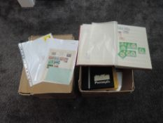 Two boxes of World Stamps and Covers, mint and used, in albums and loose