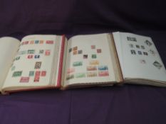 Three World Stamp Albums and loose Stamps, mixed interest