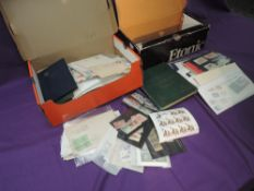 Two small boxes of World Stamps, mint and used, mainly on stock cards