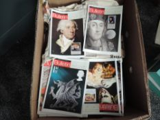 A large box of British Philatelic Bulletin magazine, Royal Mail, 1970's to 2008