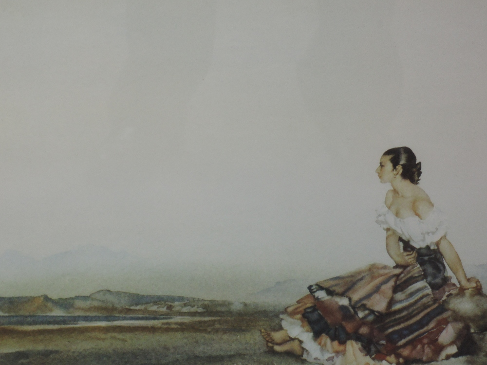 A print after William Russell Flint, Carmelita framed and glazed 43 x 56cm