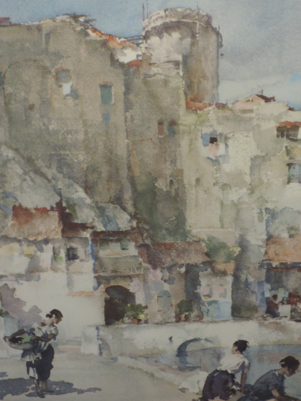 A limited edition print after William Russell Flint, Wash Day, numbered 166/850, 53 x 37cm framed