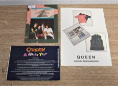 A selection of fan club magazines and merchandise offers.