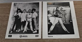 Two promotional photos from 1986.