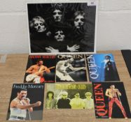 A collection of postcards and Bohemian rhapsody photo.