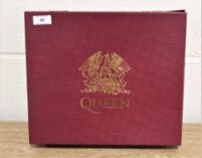 Queen live at the rainbow box set includes badges, sew on patch, poster compact disc, and VHS