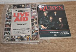 An out of print book' The complete works' plus live aid book.