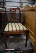 A reproduction Regency style mahogany dining chair