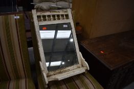 A 19th Century hall mirror, shabby chic style