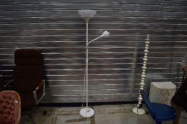 A modern white standard/reading lamp
