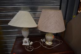 Two reproduction table lamps