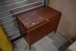 An early 20th Century oak bedding box, approx. width 93cm, depth 49cm