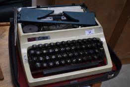 A vintage Erika typewriter