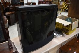 A vintage Bang and Olufsen CRT TV etc