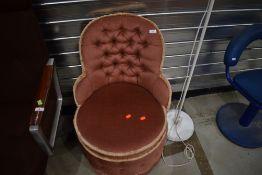 A vintage dralon nursing chair