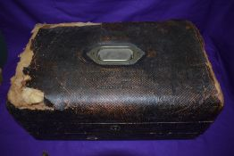 A Victorian Travel Desk inscribed on the lid, Sergeant Major A Sutherland RE from Lieut Colonel