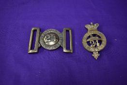 A Other Ranks 2nd Warwickshire Regiment 24th Foot Glengarry Badge and a Other Ranks 2nd Warwickshire
